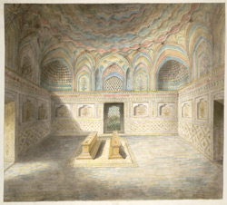 Interior tomb chamber of Itimad al-Daulah's tomb